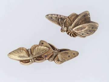 Pair of menuki in the form of butterflies