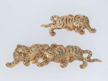 Pair of menuki in the form of tigers