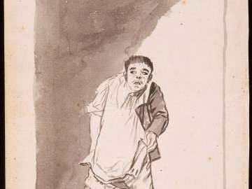 Good Priest, Where Was It Celebrated? (Buen sacerdote, ¿donde se ha celebrado?) Man PUlling Up his Breeches]