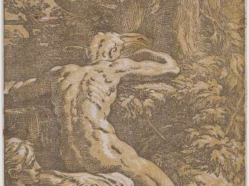 Nude Man Seen from Behind