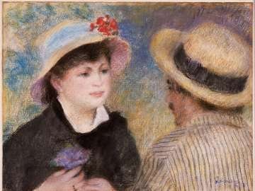 Boating Couple (said to be Aline Charigot and Renoir)