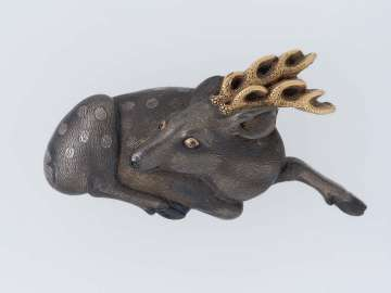 Menuki in the form of a reclining deer