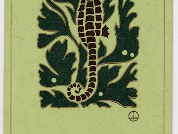 New Year's Card: Seahorse