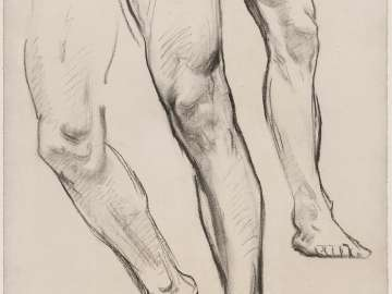 Sketch for the Messianic Era - Legs of Figure at left -Boston Public Library Murals