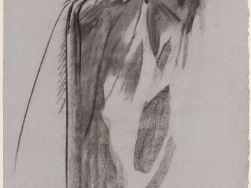 Sketch for the Sorrowful Mysteries - Draped Figure - Boston Public Library Murals