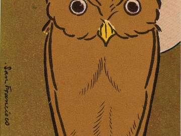 Horned Owl (Mimizuku)  from Ehagaki sekai