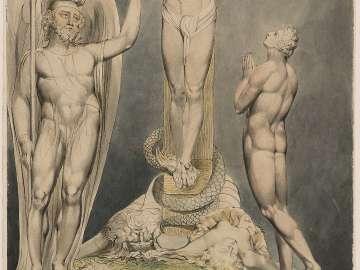 Michael Foretelling the Crucifixion to Adam (Illustration to Milton's