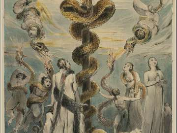 Moses Erecting the Brazen Serpent  (Numbers XXI, 9)
