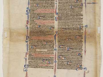 Leaf from the Corpus Juris Civilis, Codex Justinianus