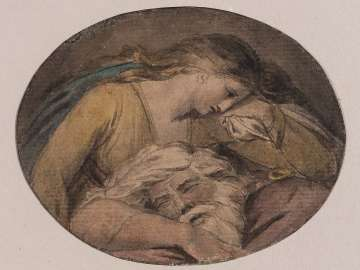 Cordelia and the Sleeping Lear (Illustration to Shakespeare)