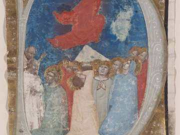 The Ascension (Cutting from a Gradual or Antiphonary)