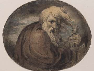 Lear Grasping a Sword (Illustration to Shakespeare)