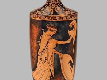 Oil flask (lekythos)