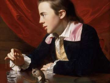 A Boy with a Flying Squirrel (Henry Pelham)