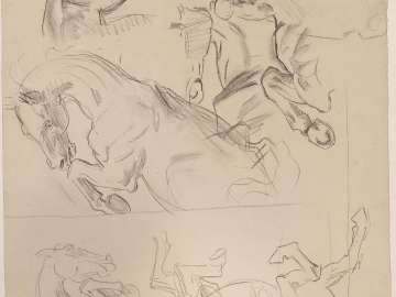 Sketch for Phaeton - Horses (MFA Stairway)