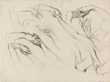 Sketch for Dancing Figures - Hands -(MFA Rotunda)