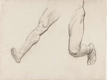 Sketch for Satyr and Maenad - Satyr's Legs- (MFA Rotunda)