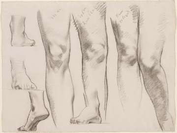 Sketch for the Three Graces - Legs and Feet - (MFA Rotunda)