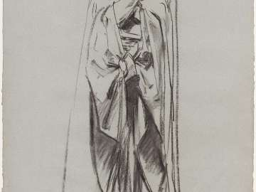 Sketch for Angels Frieze - Angel - Boston Public Library Murals