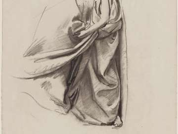 Sketch for the Joyful Mysteries, The Visitation - Drapery - Boston Public Library Murals