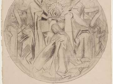 Sketch for the Glorious Mysteries - The Coronation of the Virgin - Boston Public Library Murals