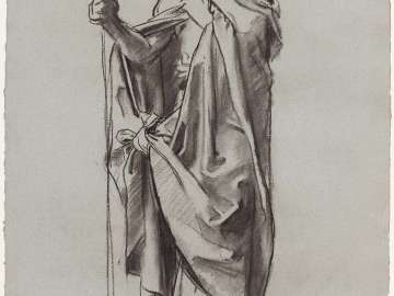Sketch for the Sorrowful Mysteries - The Good Shepherd - Boston Public Library Murals