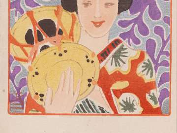 Maiko and Drum from the series Beautiful Women and Music (Bijin to onkyoku)
