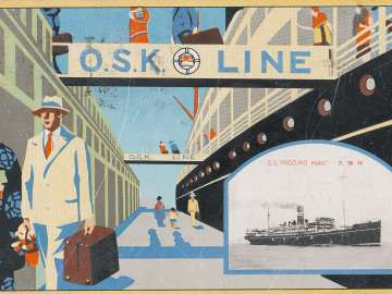 OSK Line with Vignette of Midzuho maru