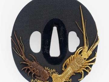 Tsuba with design of crayfish