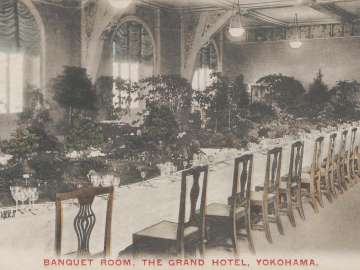 Banquet Room, the Grand Hotel, Yokohama (from an unidentified series)