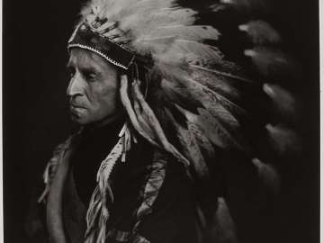 Lord Tweedsmuir (with Indian Head Dress)