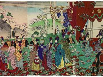 Congratulatory Banquet at the New Imperial Palace (Shin kôkyo goshukuen no zu)