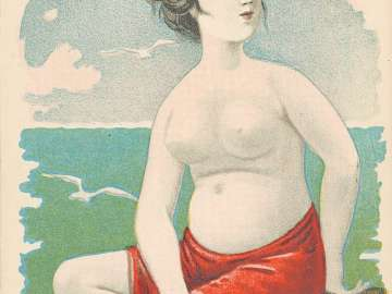 Female Nude by the Sea (from an unidentified series)