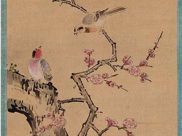 Plum Tree and Birds