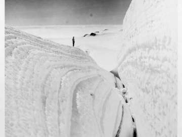 A Huge Crevasse, Mt. Bertha, Alaska