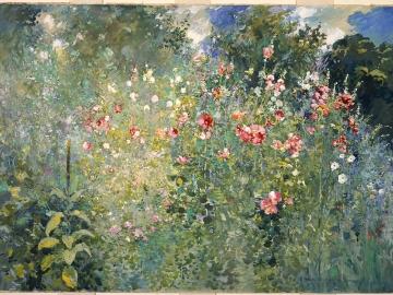 A Garden Is a Sea of Flowers
