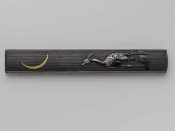 Kozuka with design of deer and moon