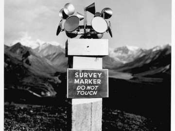 Mirrors on Survey Marker, Mt. McKinley, Alaska