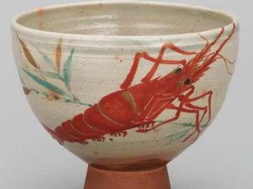 Tea Bowl with design of crayfish