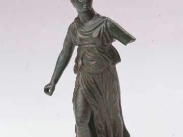 Statuette of Athena in combat