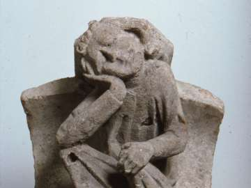 Corbel of Dozing Man,