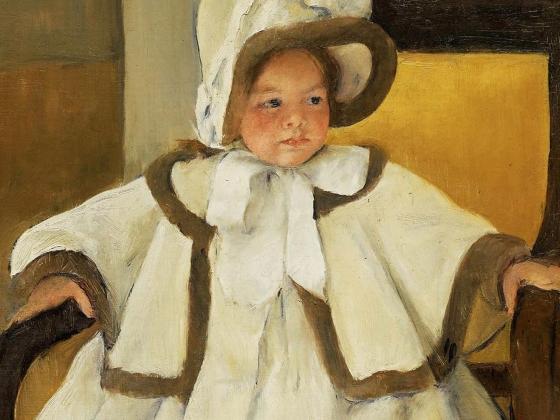 """Mary Cassatt, """"Ellen Mary in a White Coat"""", 1896"""