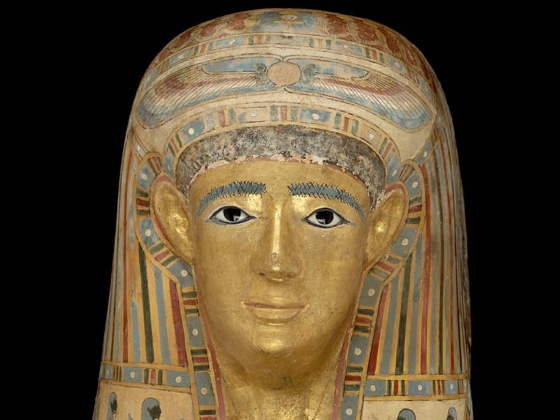 Traditional Egyptian funerary practices continued well into Roman times, when cartonnage mummy masks were made to fit over the head of the wrapped mummy. They belong to the same tradition as mummy masks from the Middle Kingdom.