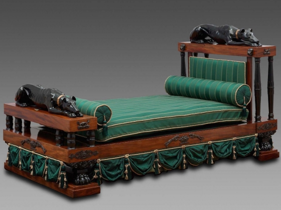 Design attributed to Thomas Hope, Bed, about 1800-10