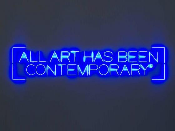 """Maurizio Nannucci, """"All Art Has Been Contemporary"""", 1999"""