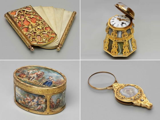 Carnet de bal, bonbonniere, snuff box, and magnifying glass from the Rothschild Collection