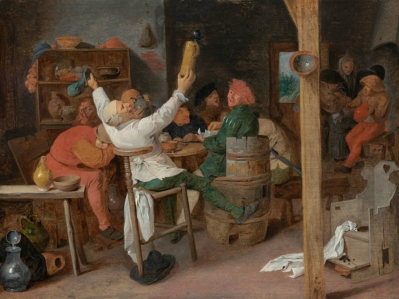 Adriaen Brouwer, Peasants Carousing in a Tavern, about 1760