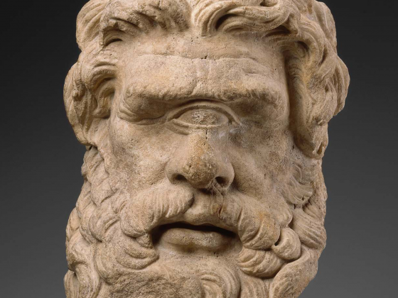 Head of Polyphemos, Greek or Roman, Hellenistic or Imperial Period, about 150 BC or later