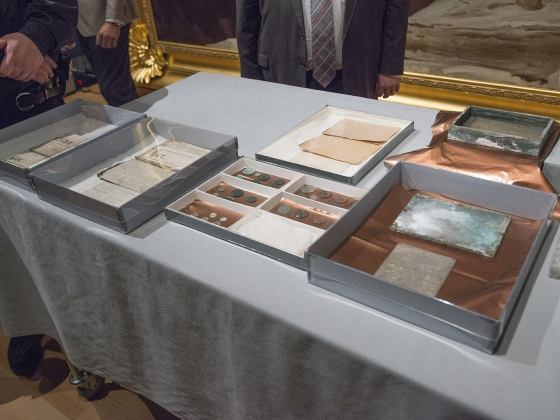 Time Capsule Opening at the Museum of Fine Arts Boston on January 6 2015 Museum of Fine Arts Boston