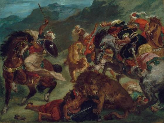 Eugène Delacroix, Lion Hunt, 1858